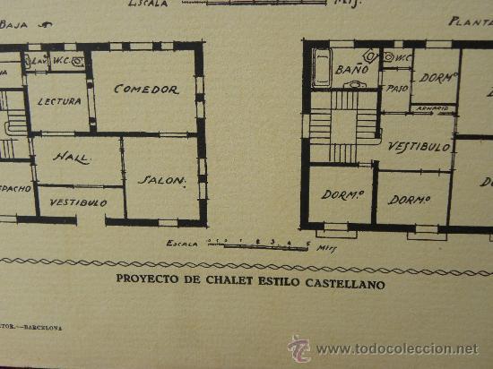 Arte: 5 Lamina Arquitectura antigua plano estilo Catalán,castellano montañés Andaluz Ed. Casellas Moncanut - Foto 21 - 29155648