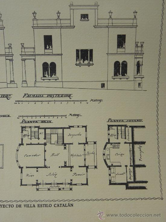 Arte: 5 Lamina Arquitectura antigua plano estilo Catalán,castellano montañés Andaluz Ed. Casellas Moncanut - Foto 24 - 29155648