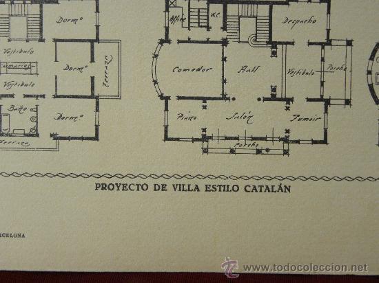 Arte: 5 Lamina Arquitectura antigua plano estilo Catalán,castellano montañés Andaluz Ed. Casellas Moncanut - Foto 25 - 29155648