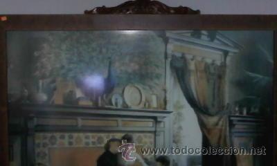 Arte: Cuadro de Antigua Lamina enmarcada con marco antiguo de los 50/60 - Foto 2 - 29229052