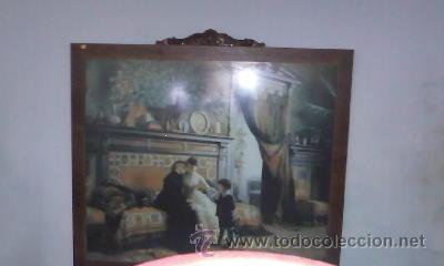 Arte: Cuadro de Antigua Lamina enmarcada con marco antiguo de los 50/60 - Foto 4 - 29229052