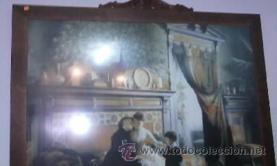 Arte: Cuadro de Antigua Lamina enmarcada con marco antiguo de los 50/60 - Foto 5 - 29229052