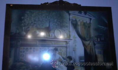 Arte: Cuadro de Antigua Lamina enmarcada con marco antiguo de los 50/60 - Foto 6 - 29229052