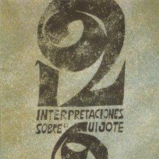 Arte: DOCE INTERPRETACIONESSOBRE EL QUIJOTE LABORATORIOS ROGER,SA JUAN PERRUCHO SOLO 5 LAMINAS . Lote 29234095