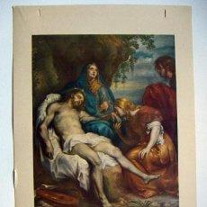 Arte: ANTIGUA LÁMINA LA VIRGEN DE LAS ANGUSTIAS EDIC.BARGUÑO Y CIA. Lote 29465093