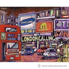 Arte: LAMINA 50 X 40 CM. EN PAPEL GRUESO (ALTA CALIDAD) PICCADILLY CIRCUS LLOVIENDO, LONDRES.. Lote 29621203