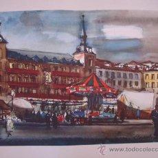 Arte: LAMINA DE LA ACUARELA MADRID. Lote 29773904