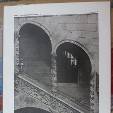 Arte: LAMINA ORIGINAL DE 1918. BARCELONA. ESCALERA PALACIO DALMASES. ARTE Y DECORACIÓN EN ESPAÑA II. Nº41. Lote 178591796