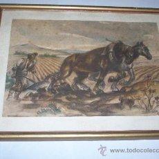 Arte: PACO RIBERA LAMINA DE CALENDARIO 1945. Lote 30636798