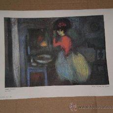 Arte: LAMINA MUJER DELANTE DEL ESPEJO - MUSEO PICASSO . PARIS DEL AÑO 1972 . . Lote 30877521