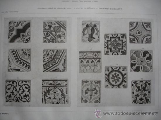 AZULEJOS TALAVERA Y TRIANA SEVILLA (Arte - Láminas Antiguas)
