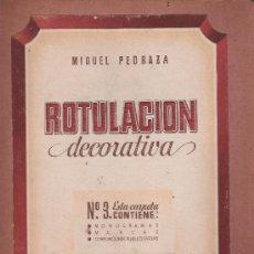 Arte: ROTULACION DECORATIVA - MIGUEL PEDRAZA - CARPETA Nº 3 MAS 20 LAMINAS - EDICIONES ARS BARCELONA. Lote 31776070