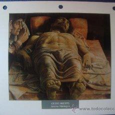 Arte: LOTE 41 LAMINAS PINTORES DAGOSTNI FICHA TECNICA. Lote 31877493