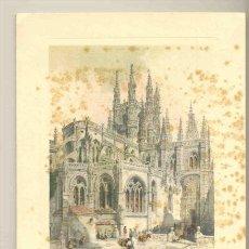 Arte: VISTA EXTERIOR DEL CRUCERO DE LA CATEDRAL DE BURGOS .. ESCRITA 1950. Lote 31989031
