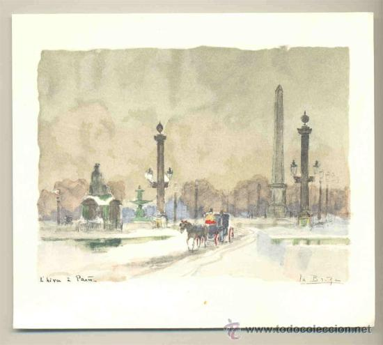 LAMINA ESTAMPADA. .. L´HIVET PARIS (Arte - Láminas Antiguas)