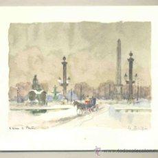 Arte: LAMINA ESTAMPADA. .. L´HIVET PARIS . Lote 31989177