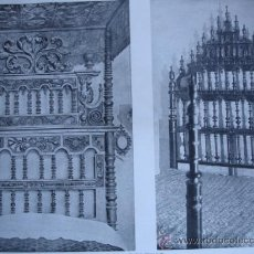 Arte: CAMAS DE MADERA TALLADA. Lote 31990476