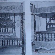 Arte: CAMAS DE MADERA TALLADA. Lote 31990478