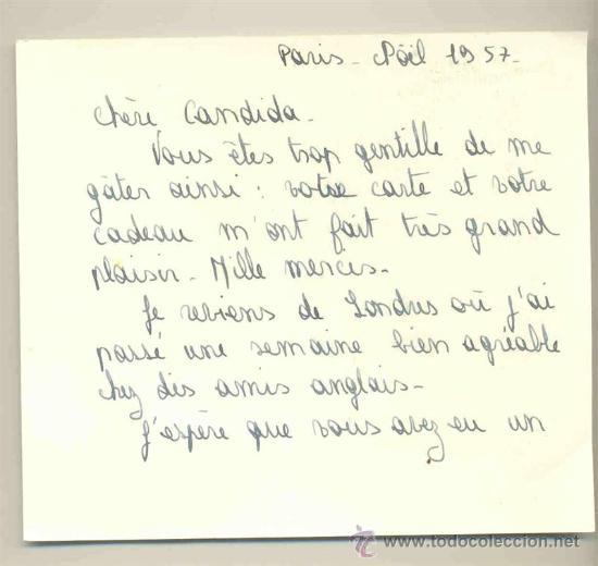 Arte: Lamina estampada .. Paris - 1957 - Foto 2 - 31999314