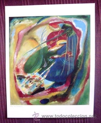 KANDISKY - PINTURA CON TRES MANCHAS Nº 196 - MUSEO THYSSEN - BORNEMISZA (Arte - Láminas Antiguas)