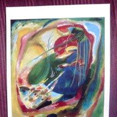 Arte: KANDISKY - PINTURA CON TRES MANCHAS Nº 196 - MUSEO THYSSEN - BORNEMISZA. Lote 32175546