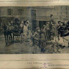 Arte: ALBUM ARTISTICH RENAIXENSA : ROMAN RIVERA - UNA SORTIDA DE BALL (1884). Lote 32349365