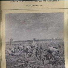 Arte: ALBUM ARTISTICH RENAIXENSA : PELLICER - LO NOSTRE PA DE CADA DIA (1885). Lote 32349394