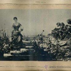 Arte: ALBUM ARTISTICH RENAIXENSA : ENRICH SERRA - IDILI (1884). Lote 32349557