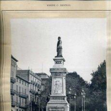 Arte: ALBUM ARTISTICH RENAIXENSA : JOSEPH O. MESTRES - MONUMENT A ANTONI LOPEZ Y LOPEZ (1884). Lote 32349747