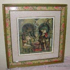 Arte: DECORACION VINTAGE - CUADRO CON LÁMINA DE FERRANDIZ - AÑOS 60.. Lote 32581207