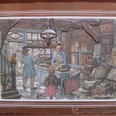 Arte: LAMINA CON RELIEVES DEL ARTISTA HOLANDÉS ANTON PIECK (1895-1987) MONTADA SOBRE CHAPÓN. Lote 32560463