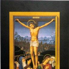 Arte: CRISTO EN LA CRUZ. LÁMINA (269X167 MM) DE LAS GRANDES HORAS DE ANA DE BRETAÑA. . Lote 32757494