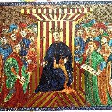 Arte: LLIBRE DEL CONSOLAT DE MAR (VALENCIA, 1407). CARPETA CON CUATRO LÁMINAS FACSÍMILES Y ESTUDIO.. Lote 32777304