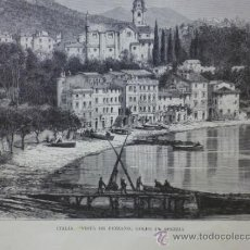 Arte: LAMINA, LAMINA ANTIGUA, ITALIA, FEZZANO, 22 X 32 CM. Lote 34487802