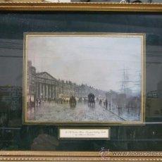 Arte: LÁMINA DE THE OLD CUSTOM HOUSE, LIVERPOOL, LOOKING SOUTH. REALIZADA POR ATKINSON GRIMSHAW. Lote 33460131