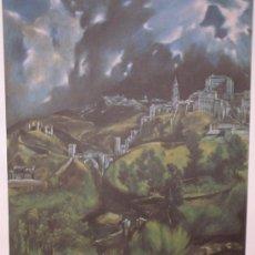 Arte: LÁMINA EL GRECO VISTA DE TOLEDO COLECCIÓN EL MUNDO DE LOS GRANDES GENIOS.. Lote 116915430