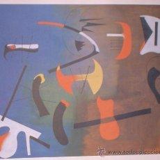 Arte: LÁMINA MIRO COMPOSICIÓN COLECCIÓN EL MUNDO DE LOS GRANDES GENIOS.. Lote 33902666