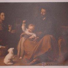 Arte: LÁMINA DE MURILLO LA SAGRADA FAMILIA DEL PAJARITO COLECCIÓN LOS TESOROS DEL PABELLÓN DE ESPAÑA.. Lote 33937758