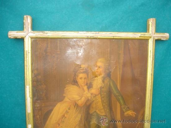 Arte: cuadro con lamina antigua y marco - Foto 3 - 34059558