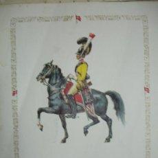 Arte: COLECCION DE 9 LAMINAS EN RELIEVE, SOLDADO DE CABALLERÍA (((((OFERTON))))). Lote 183282640