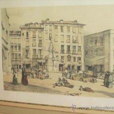 Arte: PUERTA DEL SOL. MADRID. LÁMINA ENMARCADA Y CON CRISTAL.. Lote 34308361