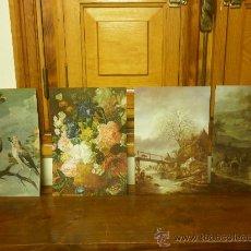 Art: CUATRO LÁMINAS: FRANS SNYDERS, PABLO TEODORO BRUSSEL, ADRIAEN VAN OSTADE Y PHILIPS WOUWERMAN. Lote 34363527