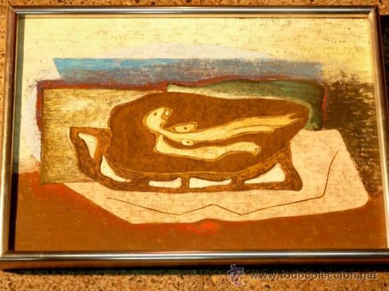BONITA LÁMINA ENMARCADA. DONOSO 1973 (Arte - Láminas Antiguas)