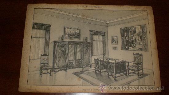 L mina dibujo proyecto muebles habitaci n aux comprar - Laminas para salon ...