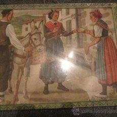 Arte: BONITA Y ANTIGUA LAMINA ENMARCADA 30X23 CMS. Lote 34976728