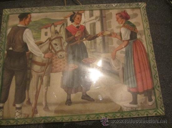 Arte: bonita y antigua lamina enmarcada 30x23 cms - Foto 2 - 34976728