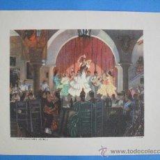 Arte: LAMINA A COLOR DEL ANTIGUO CAFE-FLAMENCO NOVEDADES DE SEVILLA.MEDIDAS 30 X 25 CM.. Lote 35058698