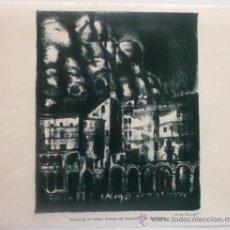Arte: MONTSERRAT - PORTICOS DE LA ANTIGUA FACHADA DEL MONASTERIO, HOY DERRIBADOS - ANTONI VILA ARRUFAT. Lote 35511631