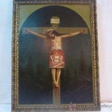 Arte: ANTIGUA LAMINA CARTON ENMARCADA SANTO CRISTO DE MANACOR. Lote 35552625