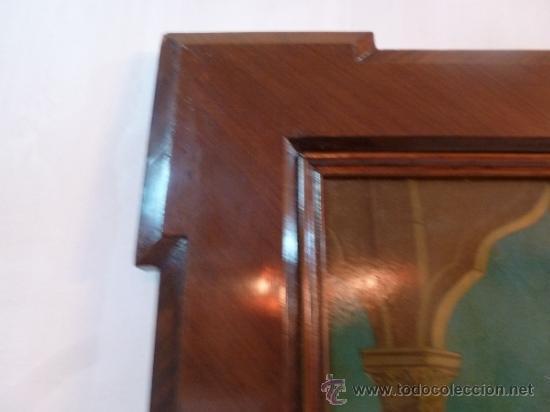Arte: antigua lamina carton enmarcada anunciacion - Foto 5 - 35552878